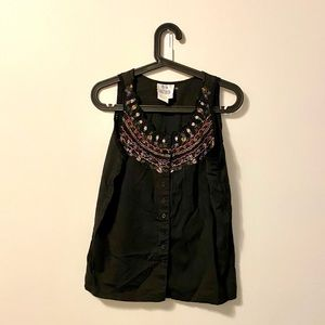 ⭐️2 for $20⭐️Vintage beaded button up tank top